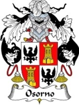 Osorno Family Crest / Coat of Arms JPG or PDF Image Download - $6.99