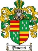 Pimentel Family Crest / Coat of Arms JPG or PDF Image Download - $6.99