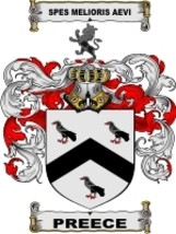 Preece Family Crest / Coat of Arms JPG or PDF Image Download - $6.99