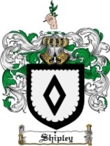 Shipley Family Crest / Coat of Arms JPG or PDF Image Download - $6.99