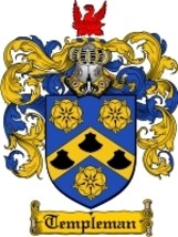 Templeman Family Crest / Coat of Arms JPG or PDF Image Download - $6.99