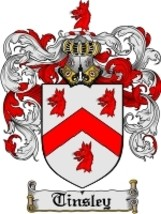Tinsley Family Crest / Coat of Arms JPG or PDF Image Download - $6.99