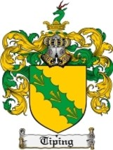 Tiping Family Crest / Coat of Arms JPG or PDF Image Download - $6.99
