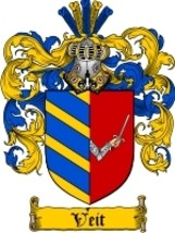Veit Family Crest / Coat of Arms JPG or PDF Image Download - $6.99