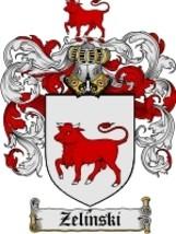 Zelinski Family Crest / Coat of Arms JPG or PDF Image Download - $6.99