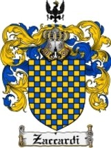 Zaccardi Family Crest / Coat of Arms JPG or PDF Image Download - $6.99