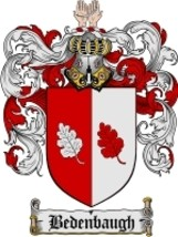 Bedenbaugh Family Crest / Coat of Arms JPG or PDF Image Download - $6.99