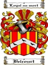 Belcourt Family Crest / Coat of Arms JPG or PDF Image Download - $6.99
