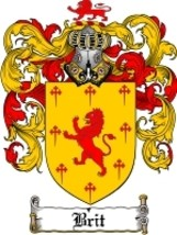 Brit Family Crest / Coat of Arms JPG or PDF Image Download - $6.99
