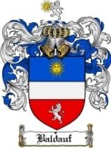 Baldauf Family Crest / Coat of Arms JPG or PDF Image Download - $6.99
