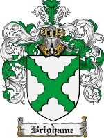 Primary image for Brighame Family Crest / Coat of Arms JPG or PDF Image Download