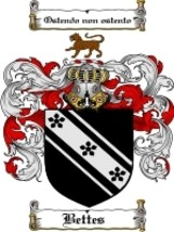 Bettes Family Crest / Coat of Arms JPG or PDF Image Download - $6.99