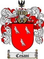 Primary image for Cesani Family Crest / Coat of Arms JPG or PDF Image Download