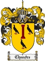 Primary image for Chendre Family Crest / Coat of Arms JPG or PDF Image Download