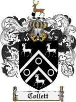 Primary image for Collett Family Crest / Coat of Arms JPG or PDF Image Download