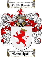Primary image for Cornehall Family Crest / Coat of Arms JPG or PDF Image Download