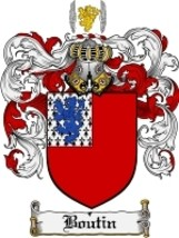 Boutin Family Crest / Coat of Arms JPG or PDF Image Download - $6.99