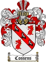 Primary image for Cossens Family Crest / Coat of Arms JPG or PDF Image Download