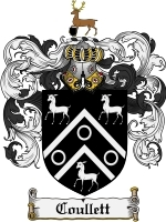 Primary image for Coullett Family Crest / Coat of Arms JPG or PDF Image Download