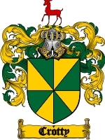 Primary image for Crotty Family Crest / Coat of Arms JPG or PDF Image Download