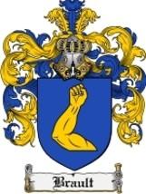 Brault Family Crest / Coat of Arms JPG or PDF Image Download - $6.99