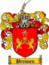 Brennen Family Crest / Coat of Arms JPG or PDF Image Download - $6.99
