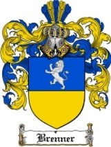 Brenner Family Crest / Coat of Arms JPG or PDF ... - $6.99