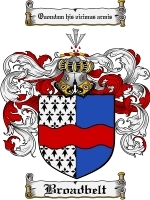 Primary image for Broadbelt Family Crest / Coat of Arms JPG or PDF Image Download