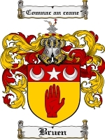 Primary image for Bruen Family Crest / Coat of Arms JPG or PDF Image Download