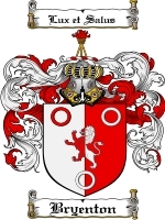 Primary image for Bryenton Family Crest / Coat of Arms JPG or PDF Image Download