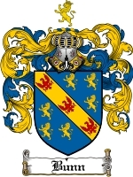 Primary image for Bunn Family Crest / Coat of Arms JPG or PDF Image Download