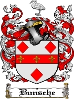 Primary image for Bunsche Family Crest / Coat of Arms JPG or PDF Image Download