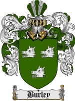 Primary image for Burley Family Crest / Coat of Arms JPG or PDF Image Download