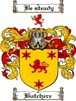 Primary image for Butchere Family Crest / Coat of Arms JPG or PDF Image Download