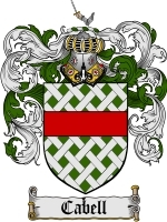 Primary image for Cabell Family Crest / Coat of Arms JPG or PDF Image Download