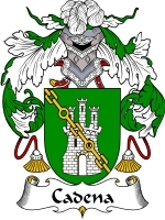 Primary image for Cadena Family Crest / Coat of Arms JPG or PDF Image Download