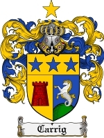Primary image for Carrig Family Crest / Coat of Arms JPG or PDF Image Download