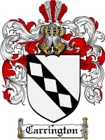Primary image for Carrington Family Crest / Coat of Arms JPG or PDF Image Download