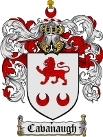 Primary image for Cavanaugh Family Crest / Coat of Arms JPG or PDF Image Download