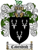 Primary image for Cavendish Family Crest / Coat of Arms JPG or PDF Image Download
