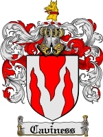 Primary image for Caviness Family Crest / Coat of Arms JPG or PDF Image Download