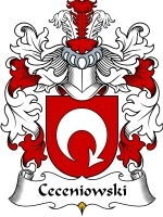 Primary image for Ceceniowski Family Crest / Coat of Arms JPG or PDF Image Download