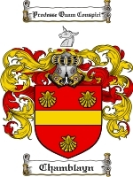 Primary image for Chamblayn Family Crest / Coat of Arms JPG or PDF Image Download