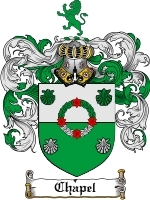Primary image for Chapel Family Crest / Coat of Arms JPG or PDF Image Download