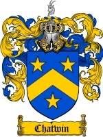 Primary image for Chatwin Family Crest / Coat of Arms JPG or PDF Image Download