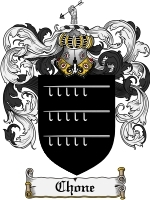 Primary image for Chone Family Crest / Coat of Arms JPG or PDF Image Download