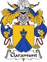 Claramunt Family Crest / Coat of Arms JPG or PDF Image Download