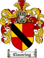 Primary image for Clavering Family Crest / Coat of Arms JPG or PDF Image Download