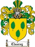 Primary image for Clearey Family Crest / Coat of Arms JPG or PDF Image Download