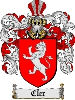 Primary image for Cler Family Crest / Coat of Arms JPG or PDF Image Download